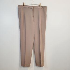 St. John Straight Leg Career Dress Pants Mocha